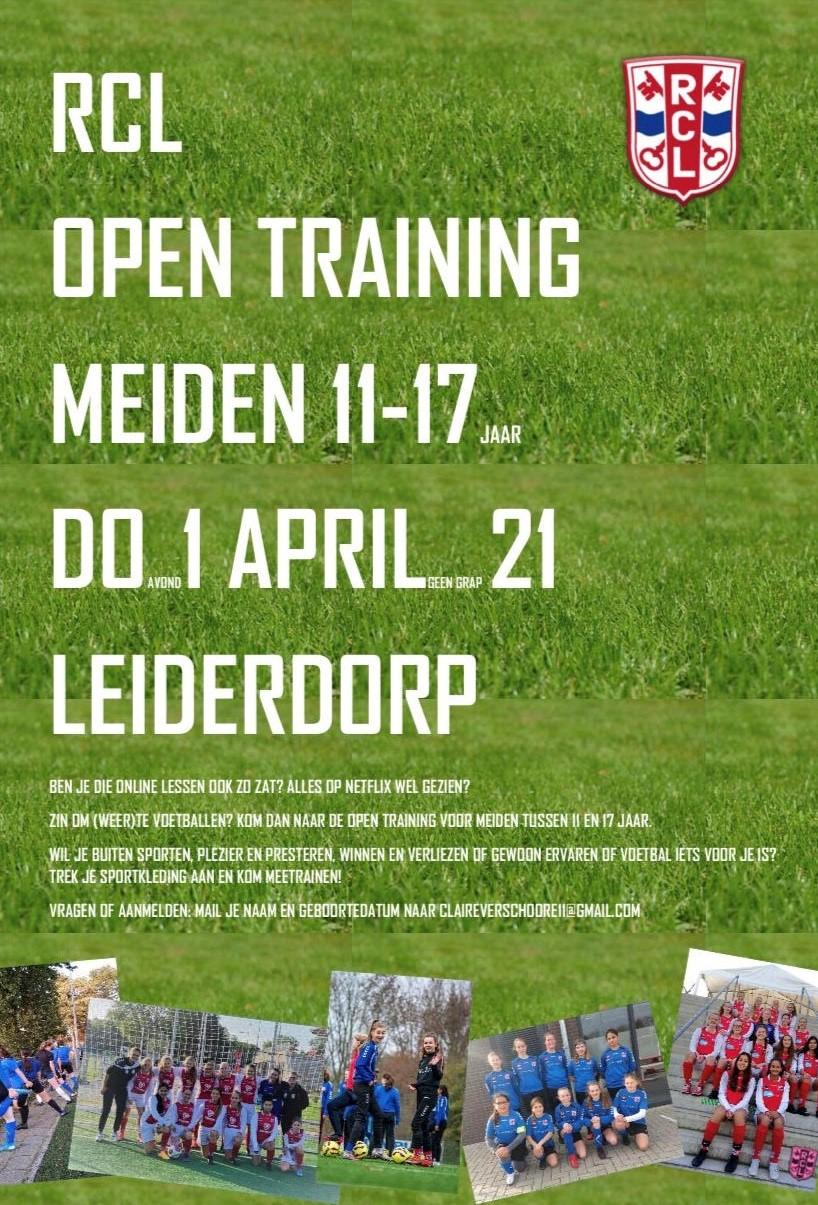 Open training voor meiden 11-17 jaar
